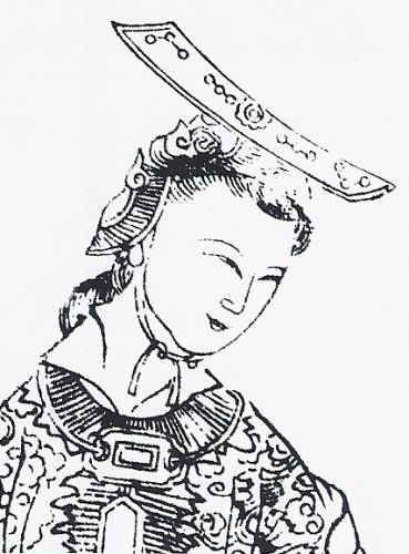 A depiction of Wu, from Empress Wu of the Zhou, published circa 1690. From Wikipedia