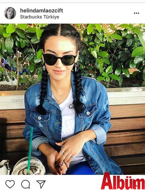 Helin Damla Özçift, Starbucks'ta keyif kahvesi eşliğinde günün yorgunluğunu attı.