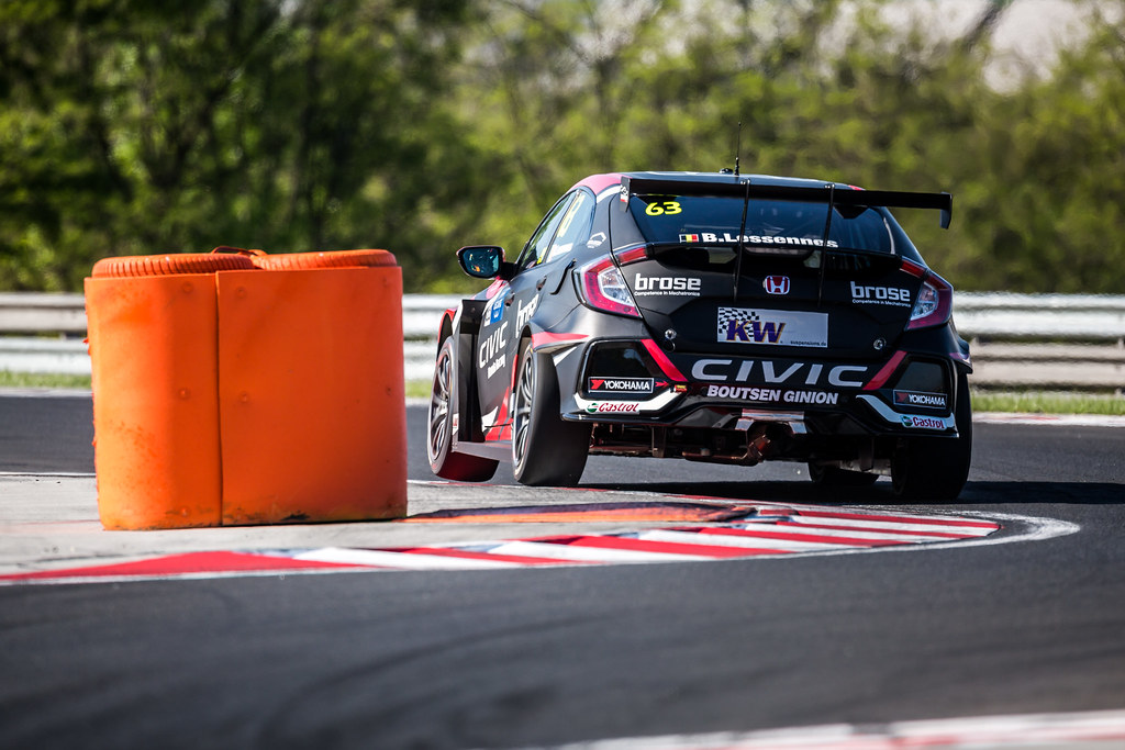 63 LESSENNES Benjamin (BEL), Boutsen Ginion Racing, Honda Civic TCR, action during the 2018 FIA WTCR World Touring Car cup, Race of Hungary at hungaroring, Budapest from april 27 to 29 - Photo Thomas Fenetre / DPPI