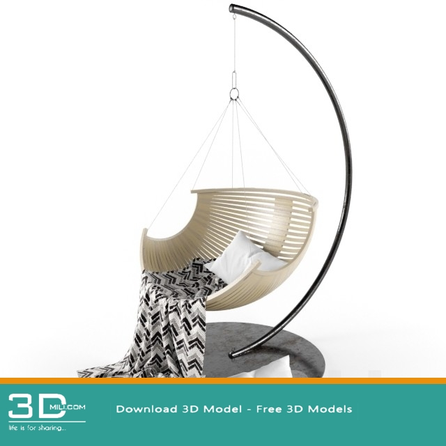 438  Hanging chair 3D Models Free Download - 3D Mili - Download 3D
