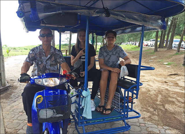 Beachside Taxi at Mai Khao Beach, Phuket