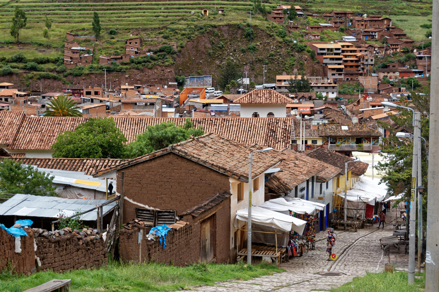 Pisac - view over the town