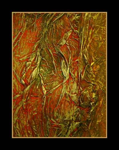 acrylic textured painting