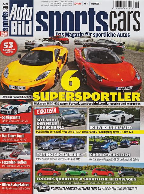 Auto Bild Sportscars 8/2011
