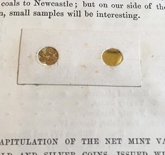 ANS Library treasures gold samples
