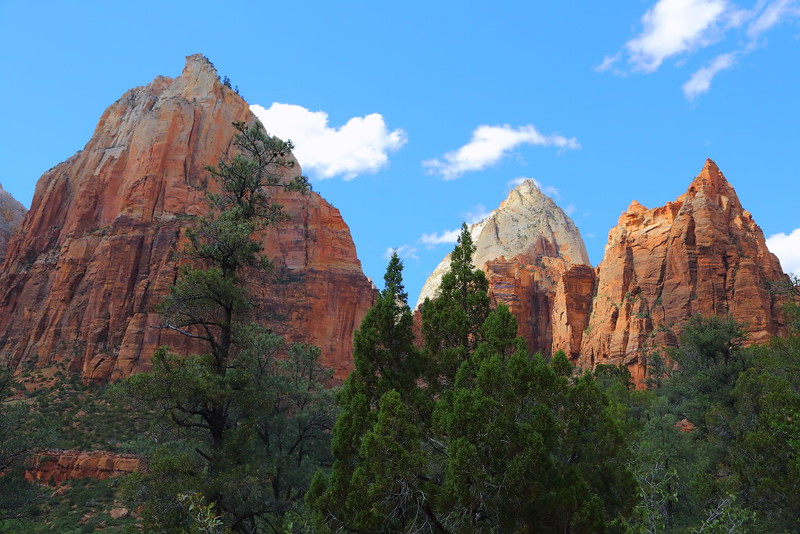 IMG_3121 Navajo Sandstone Peaks from Sand Bench Trail, Zion National Park