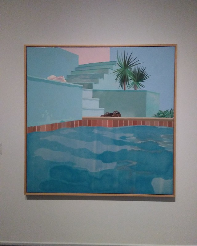 Pool and Steps, Le Nid du Duc (1971) #newyorkcity #newyork #manhattan #metmuseum #davidhockney #hockney #latergram