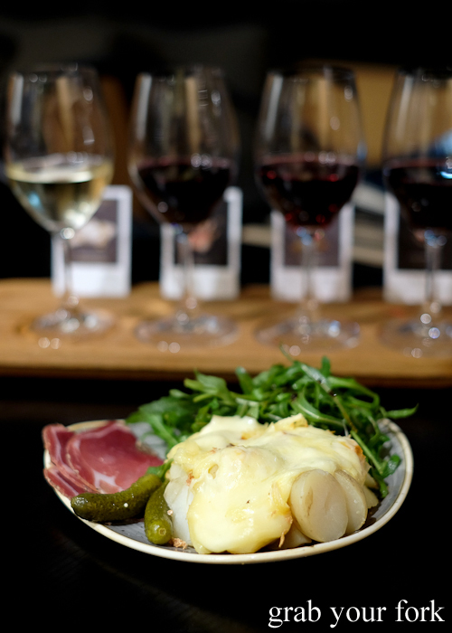 Cheese Dreams Are Made of These raclette plate at Handpicked Cellar Door in Sydney