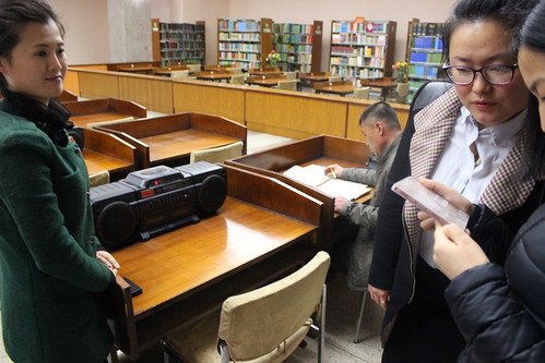 Choosing music in the National library of North Korea