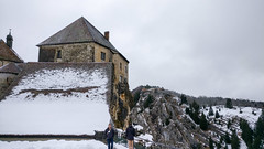 Château de Joux under the snow