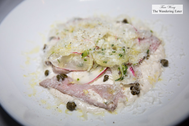 Vitello Tonnato, capers, fennel