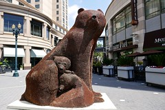 Ursa Mater, Penny bear sculpture (200,000 coins) by Fergusons, San Jose