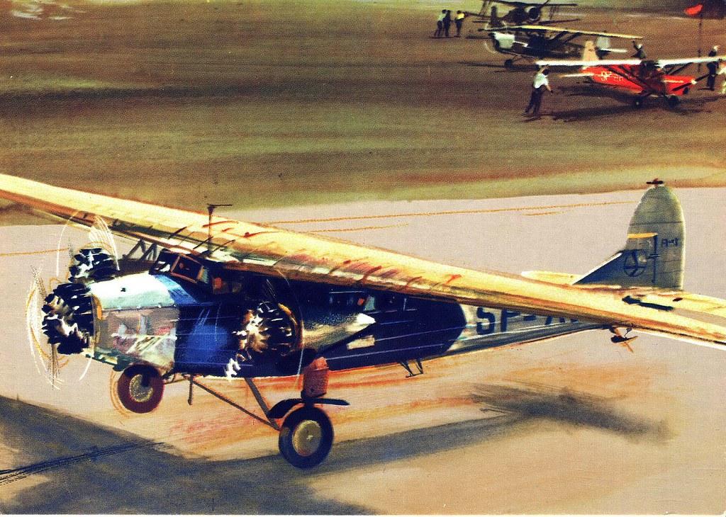 Janusz Grabiański - LOT - Polish Airlines - Fokker F-VII