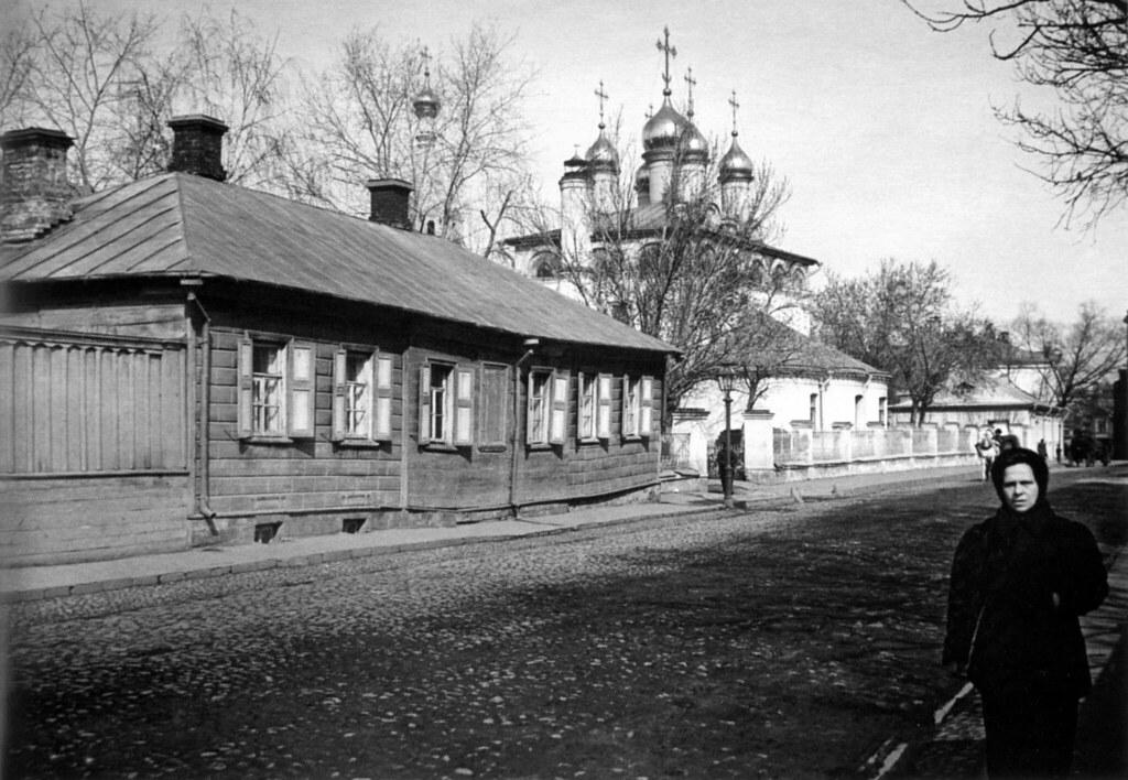 Вид Староконюшенного переулка в Москве. 1913