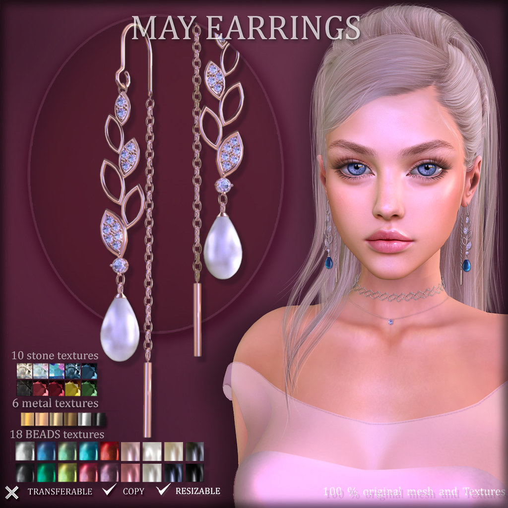 MAY Earrings (at TresChic)