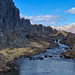 A small waterfall in Þingvellir