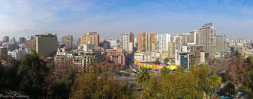 travel chile santiago city architecture building sky cloud mountains andes