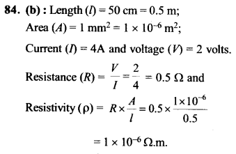 NEET AIPMT Physics Chapter Wise Solutions - Current Electricity explanation 84