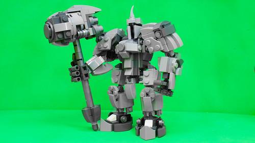 Lego Reinhardt from Overwatch