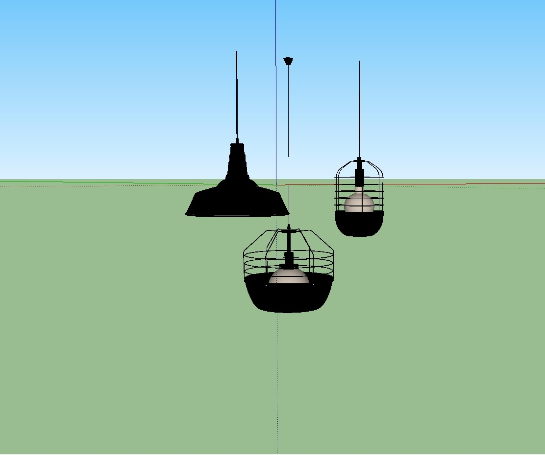 41. Ceiling Light Sketchup Model Free Download