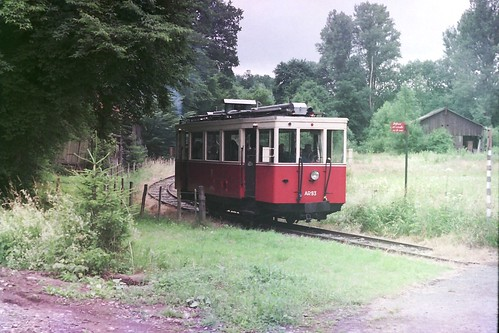Preserved Vicinal AR93 at Pont d'Érezée, Tramway touristique de l'Aisne