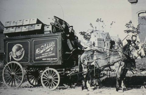schlitz-beer-wagon