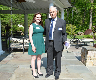 ScholarshipTea2017-2018_0092: RAMONA SEGREST PEYTON AWARD-recipient Jenna Venturi, and Mr. Peyton