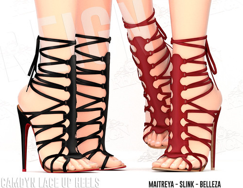 REIGN.- CAMDYN LACE UP HEELS