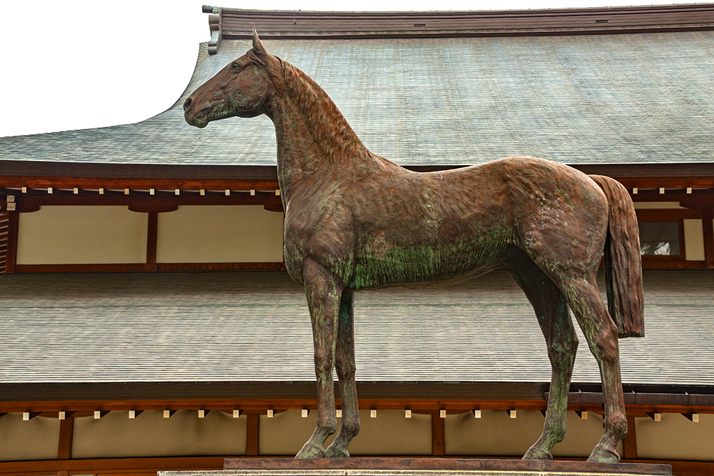 Memorial to military horses killed in action--Tokyo