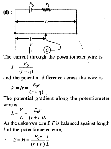 NEET AIPMT Physics Chapter Wise Solutions - Current Electricity explanation 3