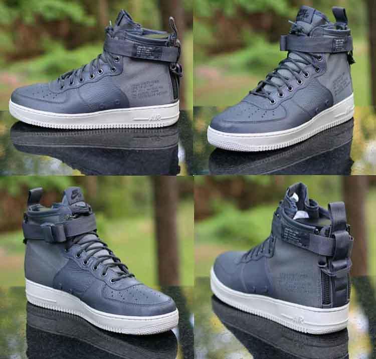 d79e5319cae202 ... Nike SF Air Force 1 Mid SF AF1 Dark Grey Light Bone 917753-004 Men s