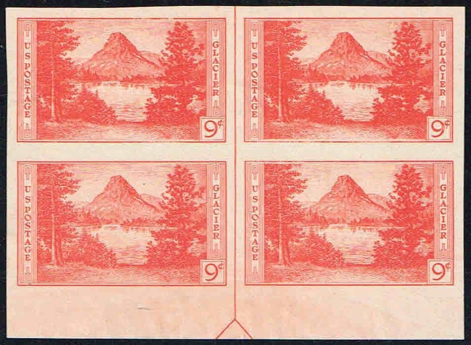 United States - Scott #764 (1935) block of four with centerline arrow