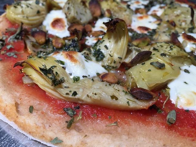 Artichoke / Pistachio Pizza