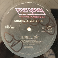 MICHELLE WALLACE:IT'S RIGHT(LABEL SIDE-A)