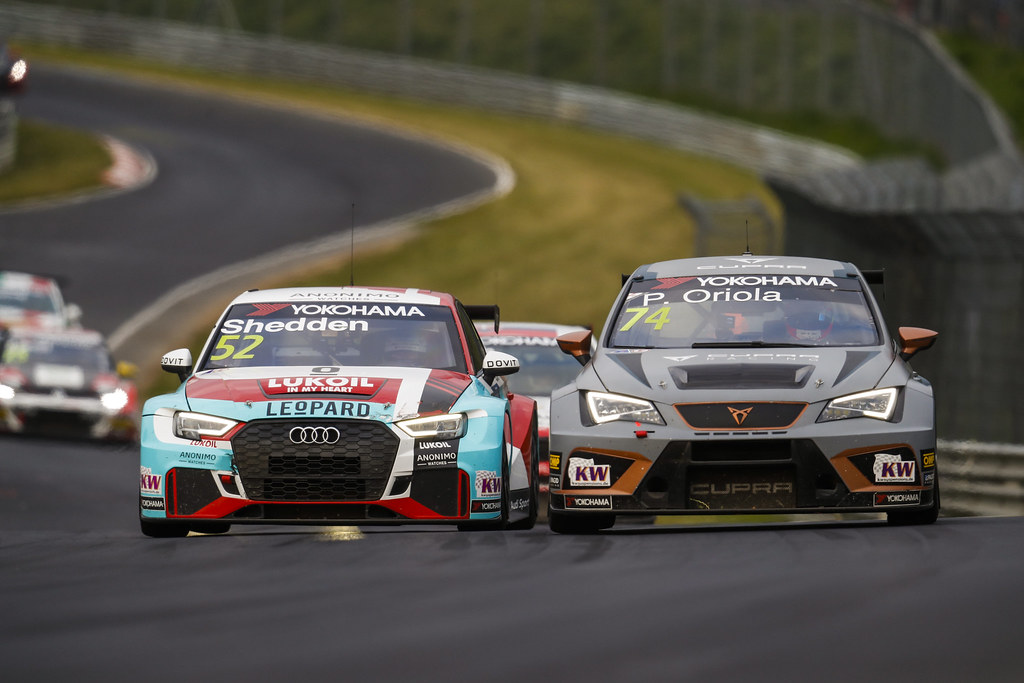 52 SHEDDEN Gordon (GBR), Audi Sport Leopard Lukoil Team, Audi RS3 LMS, 74 ORIOLA Pepe (ESP), Team Oscaro by Campos Racing, Cupra TCR, action during the 2018 FIA WTCR World Touring Car cup of Nurburgring, Nordschleife, Germany from May 10 to 12 - Photo Clement Marin / DPPI