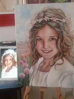 Uno dei ritratti realizzati da Floriana Fortunato