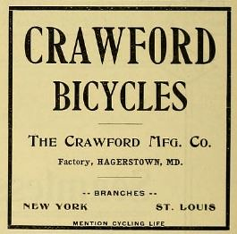 Crawford Bicycles Ad 1897