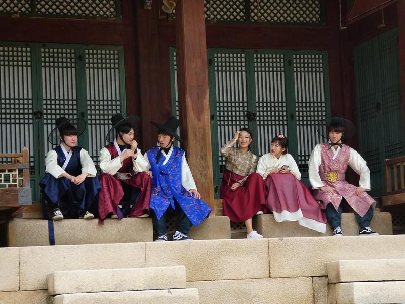 Hanok costumes, Changdeokgung Palace, Seoul