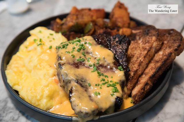Ribeye Steak & Eggs - Scrambled Eggs, Hot Sauce Hollandaise, Long Island Home Fries, Whole Wheat