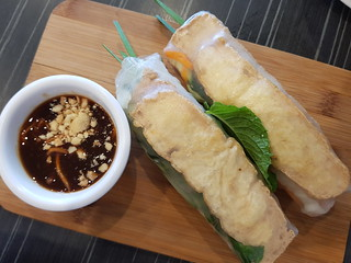 Tofu Rolls with Hoisin Peanut Sauce at Eat Mii