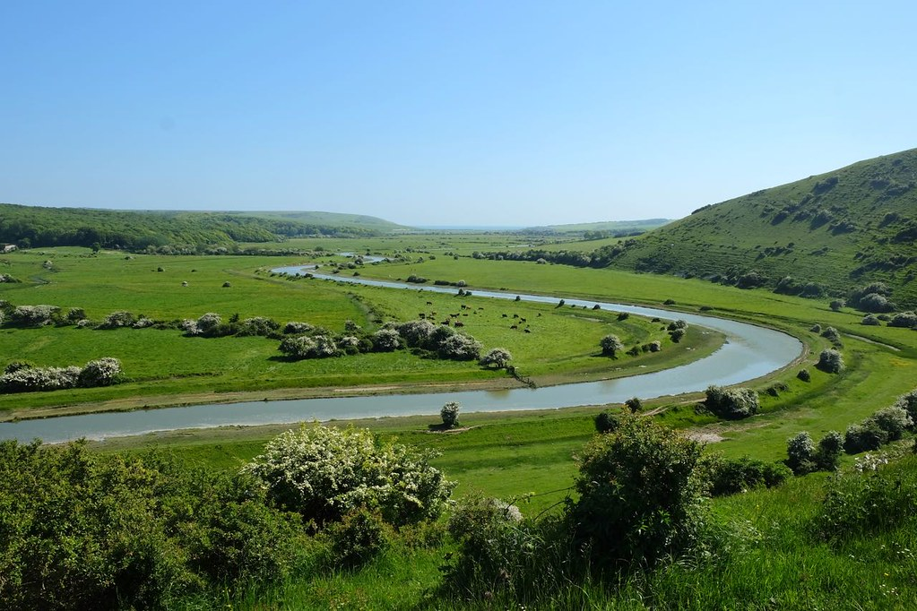BTS 160 The Cuckmere from above