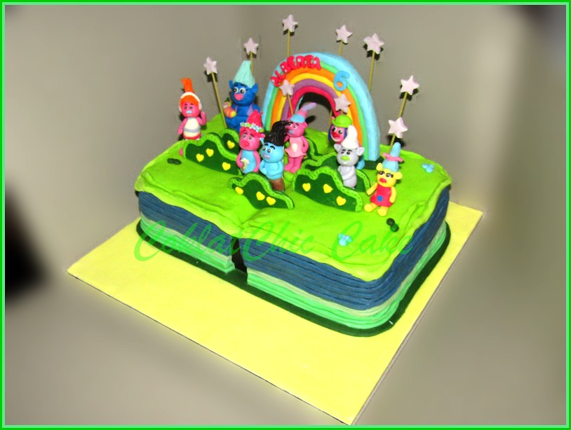 Cake Book Troll ALBERTA 15x22 cm