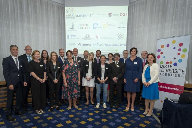 Session de signature officielle de la Charte de la Diversité Lëtzebuerg le 17 mai 2018