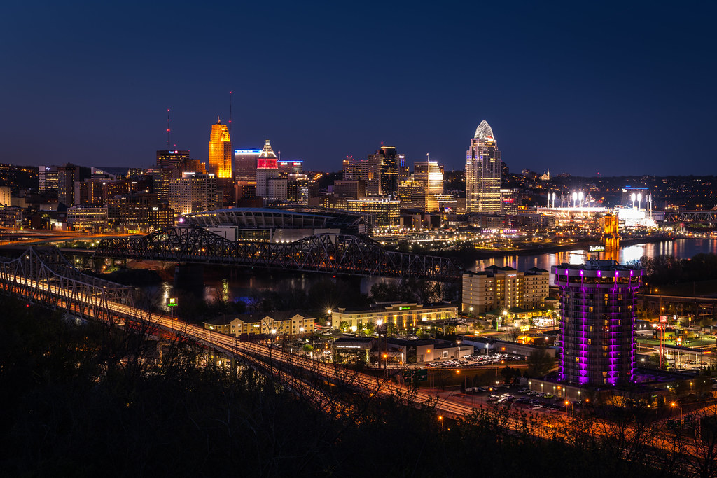 Cincinnati by night