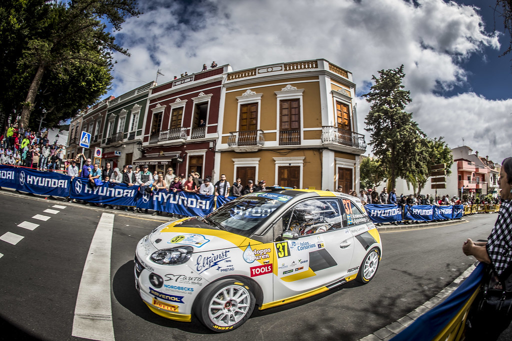37 KRISTENSSON  Tom, APPELSKOG Henrik, Adac opel Rallye junior team, Opel adam R2, action during the 2018 European Rally Championship ERC Rally Islas Canarias, El Corte Inglés,  from May 3 to 5, at Las Palmas, Spain - Photo Gregory Lenormand / DPPI