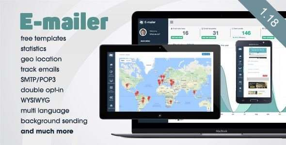 E-mailer v1.19 – Newsletter & Mailing System with Analytics + GEO location