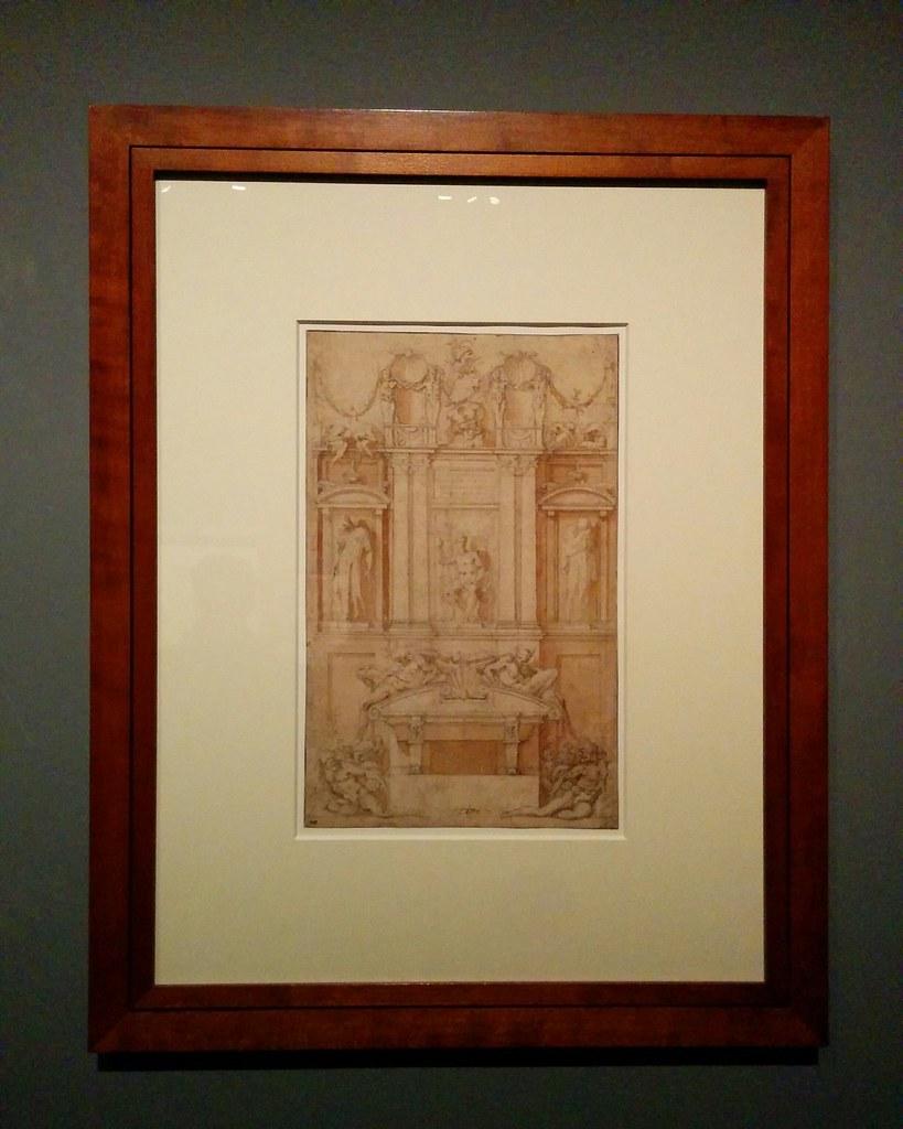 Architectural sketch #newyorkcity #newyork #metmuseum #metmichaelangelo #michaelangelo #drawing #latergram