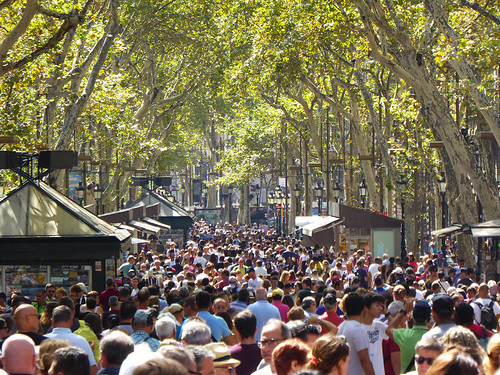 watt.nz deals with topic such as overtourism, shown here with scenes of La Ramblas in Barcelona Spain