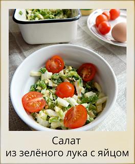 Салат из зелёного лука с яйцом, рецепт из Книги о вкусной и здоровой пище | HoroshoGromko.ru