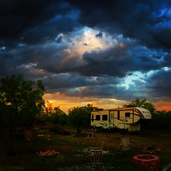 Sunset during Storms in West Texas